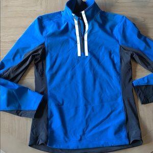 Lululemon men's long sleeve 3/4 Zipped top s